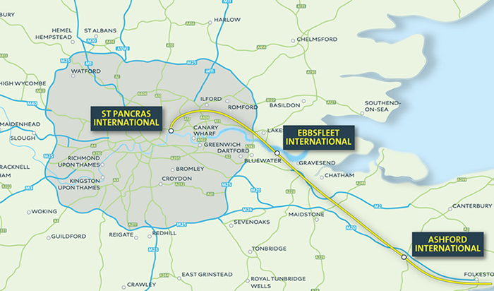 Local map of Ebbssfleet International